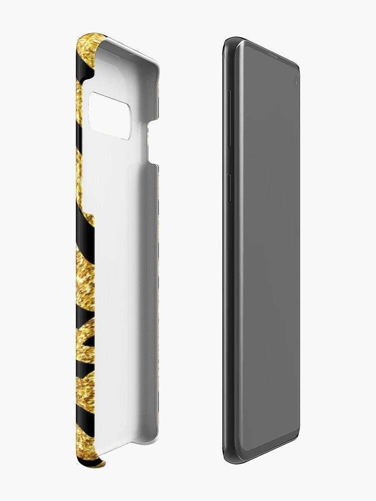 Alternative Ansicht von Schwüle, Avantgarde-Schwarz und Glitter-Gold-Art-Deco Hüllen & Klebefolien für Samsung Galaxy