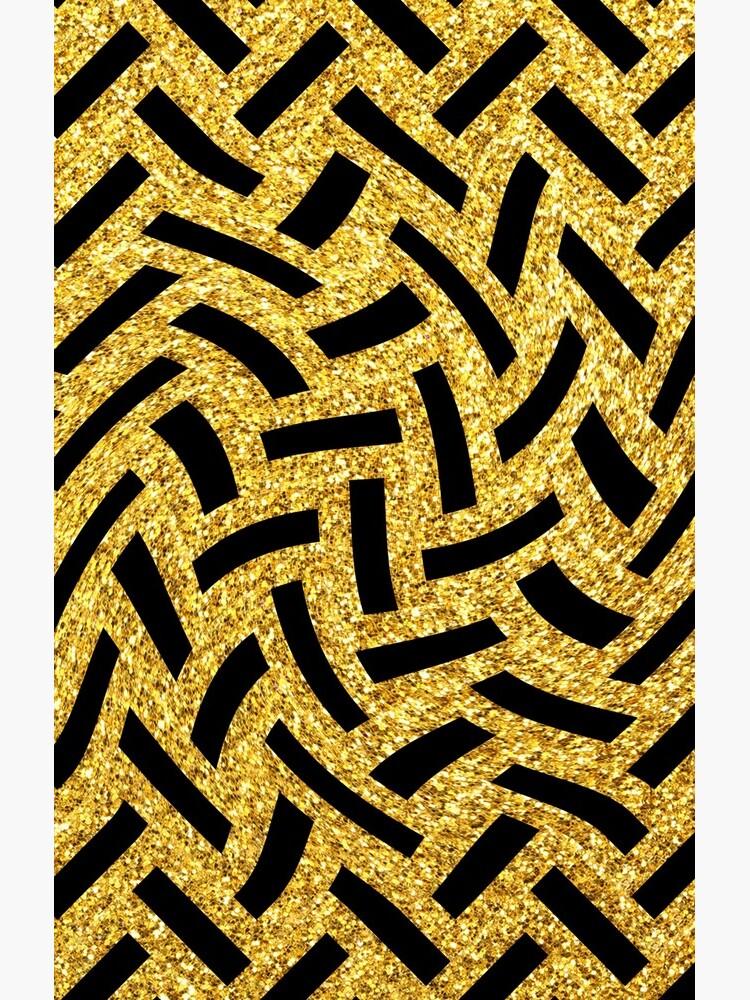 Schwüle, Avantgarde-Schwarz und Glitter-Gold-Art-Deco von DEC02
