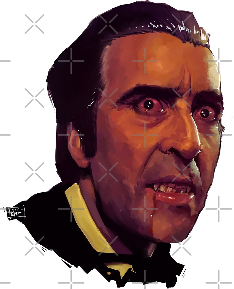 christopher lee as dracula by Alex Mahoney