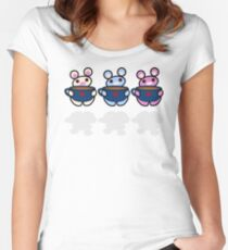 STPC: Three Chibis (Coffee) Women's Fitted Scoop T-Shirt