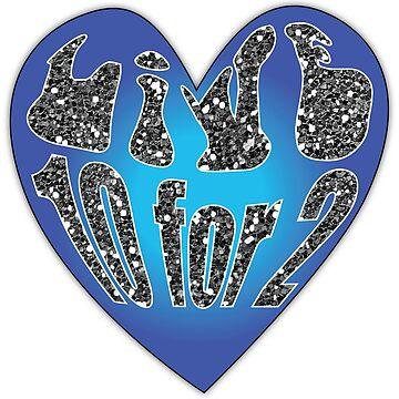 Live 10 for 2 heart sticker by dddesignsnj
