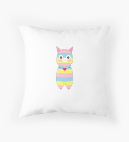 Amuse Rainbow Alpacasso Fan Art Throw Pillow