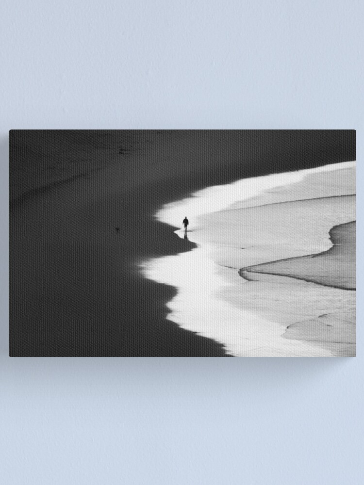 Alternate view of Walking The Tideline Canvas Print