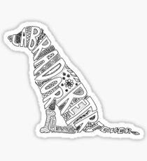 Pegatina Labrador retriever negro Doodle para los amantes de los perros