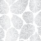Silver Mosaic Leaves by Sandra Hutter