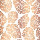Rose Gold Leaves by Sandra Hutter
