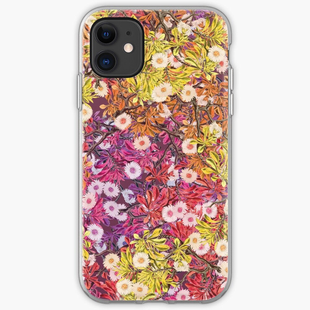 Floral Psychedelic Pattern iPhone Case & Cover