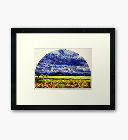 The Distance Between You and I... (panel #2) Framed Print