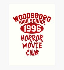 Woodsboro High Horror Movie Club 1996 Art Print