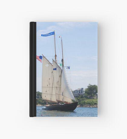 Schooner Virginia in Inner Gloucester Harbor Hardcover Journal