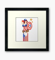 Captain America Pinup Framed Print