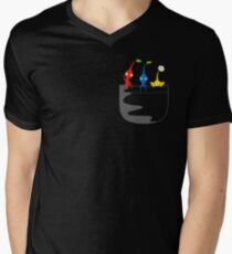 Pikmin Pocket Tee Men's V-Neck T-Shirt