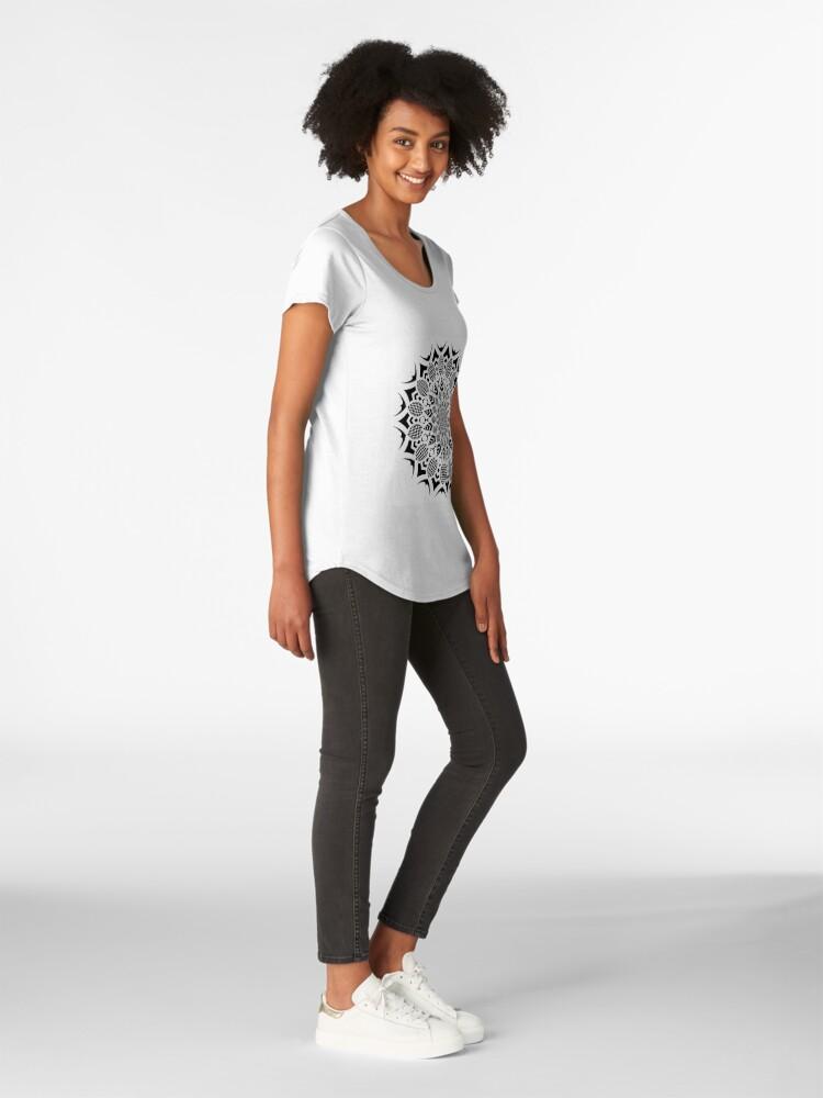 Alternative Ansicht von Kariert Premium Rundhals-Shirt
