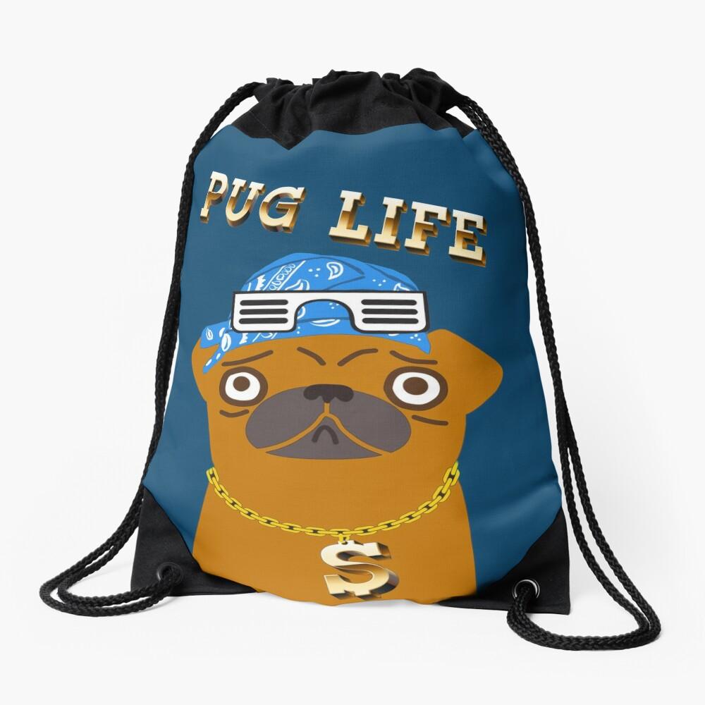 ¡El perro Gangsta de Pug Life ama los dólares y las perras con la espalda! Mochila saco