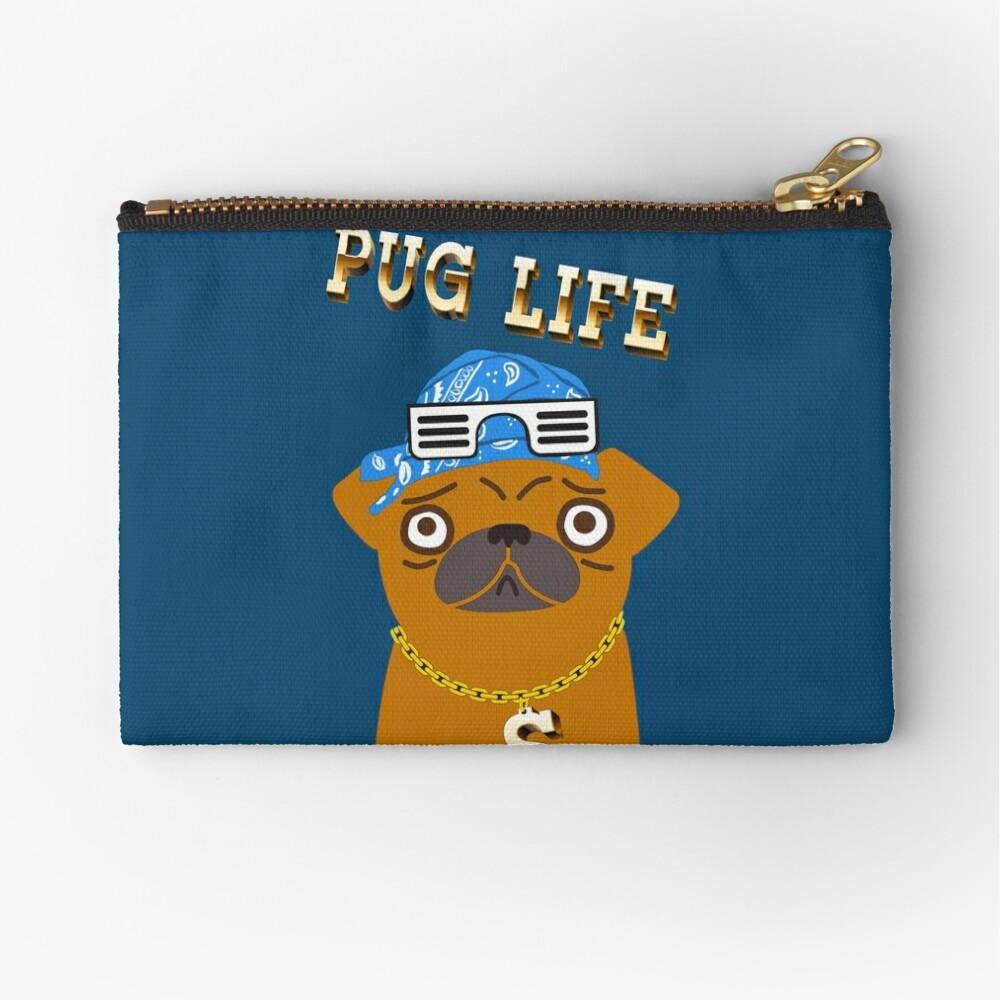 ¡El perro Gangsta de Pug Life ama los dólares y las perras con la espalda! Bolsos de mano