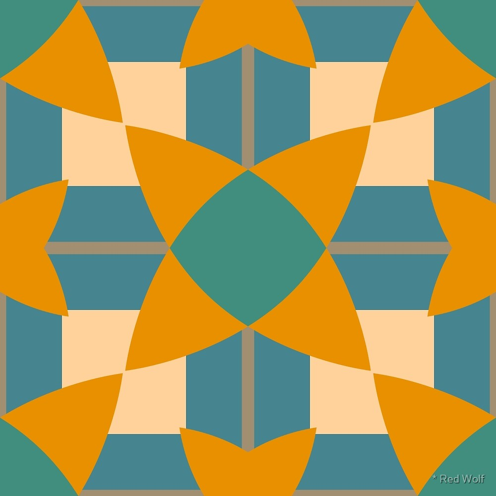 Geometric Pattern: Flower Weave: Lily by * Red Wolf