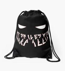 Fate smiles with sharp teeth Drawstring Bag