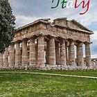 Temple of Neptune at Paestum Italy by Jon Shore