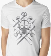 Tribal Silver Gasmask T-Shirt