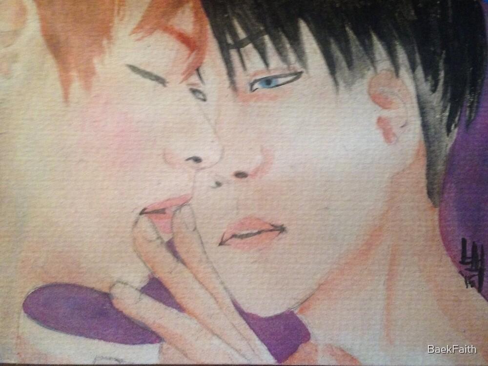 Ereri watercolor 2 by BaekFaith