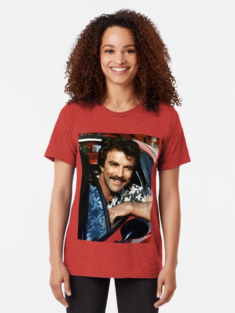 Alternate view of Thomas Magnum P.I Tri-blend T-Shirt