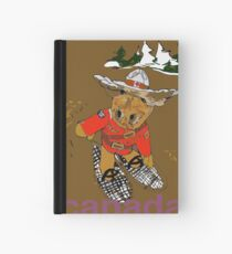 Moose with Snow Shoes Hardcover Journal