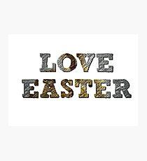 Liebe Ostern Fotodruck
