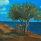 Olive Tree and Chair by Kostas Koutsoukanidis