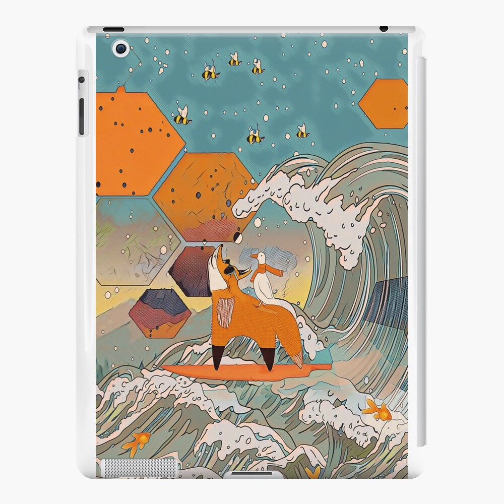 The fox and the duck iPad Cases & Skins