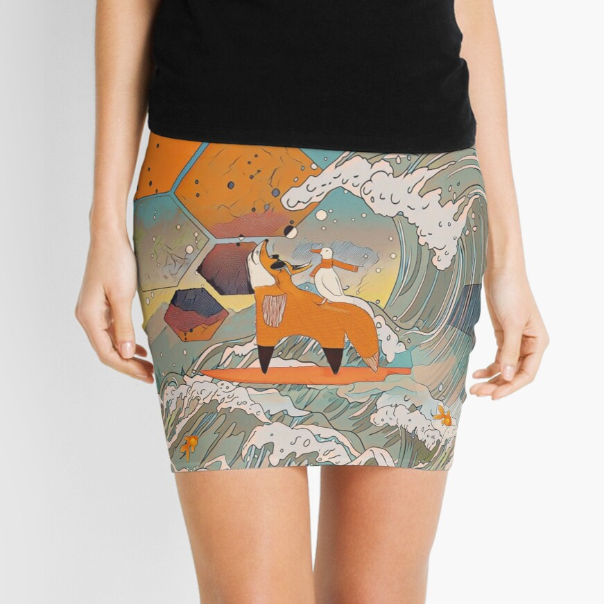 The fox and the duck Mini Skirt