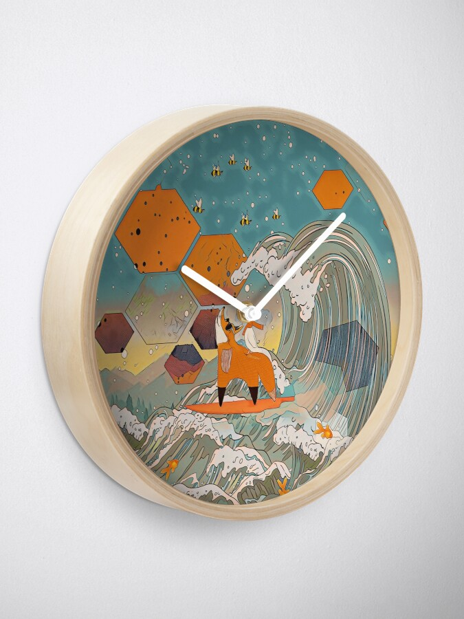 Alternate view of The fox and the duck Clock