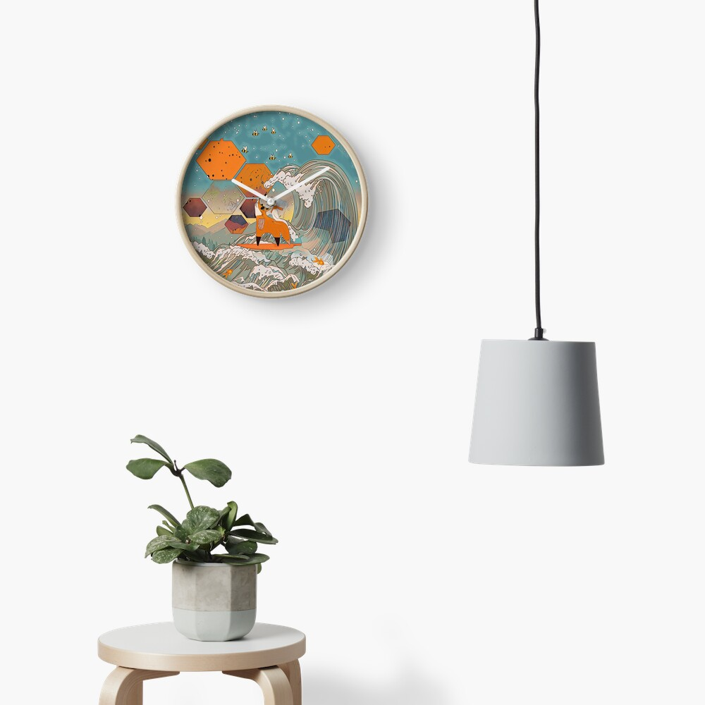 The fox and the duck Clock