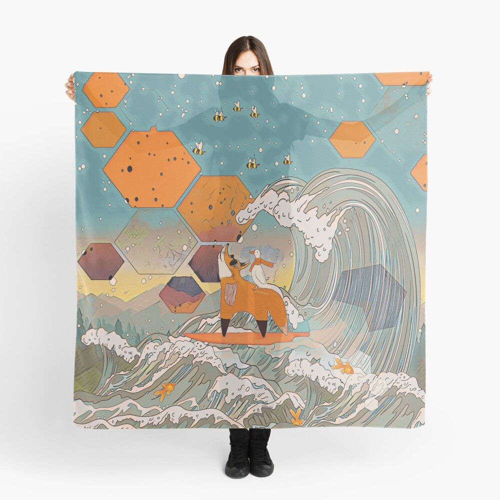 The fox and the duck Scarf