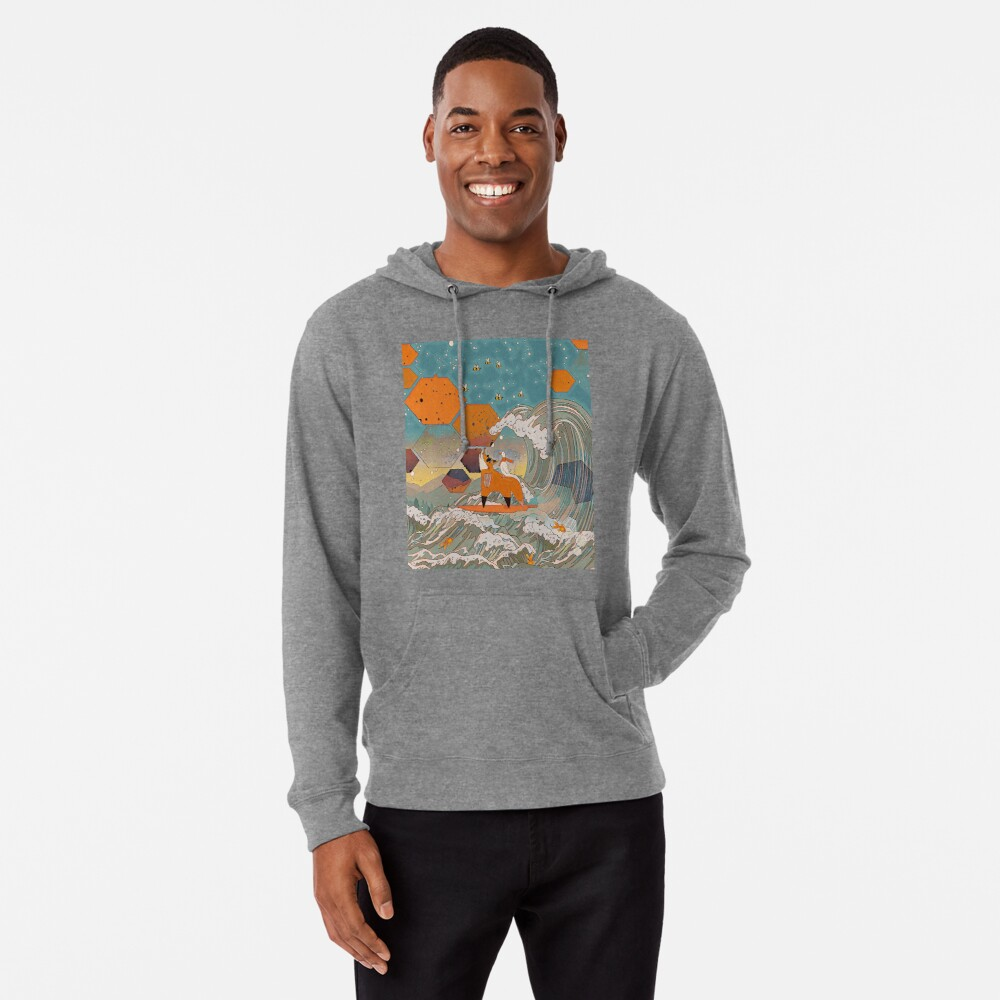 The fox and the duck Lightweight Hoodie