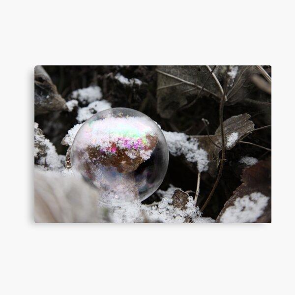 Bubble & Snow Canvas Print