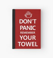 DON'T PANIC Hardcover Journal
