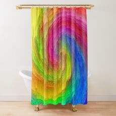 Abstract vortex | The power of thoughts and words Shower Curtain