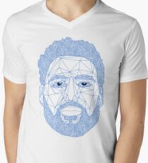 6a0784def Klay Thompson triangle portrait Men s V-Neck T-Shirt