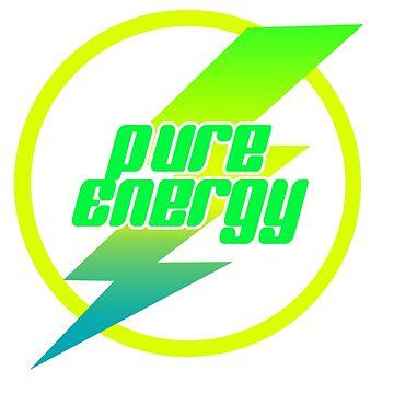 """Pure Energy - Design mit Spruch """"Pure Energy"""" - Perfekt für Party und Disco von eCom-Media"""