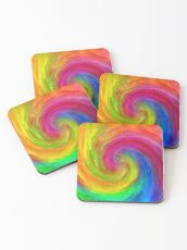 Abstract vortex | The power of thoughts and words Coasters
