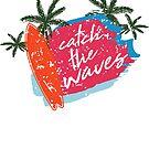 Summer sun beach and palm trees by NadjaDesigns