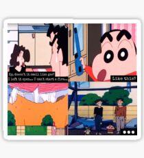 shin chan explosion Sticker