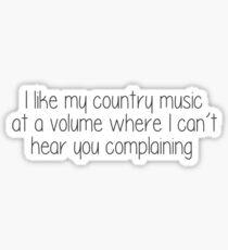 Pegatina La música country