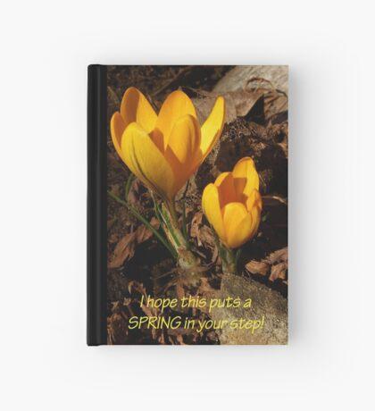 SPRING crocus card Hardcover Journal