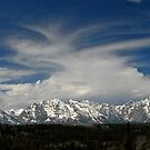 Painting The Sky Over The Tetons (pan) by A.M. Ruttle