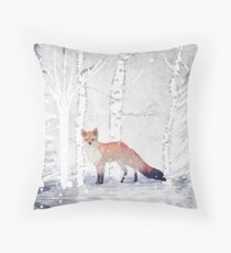 WINTER FOX by Monika Strigel Throw Pillow