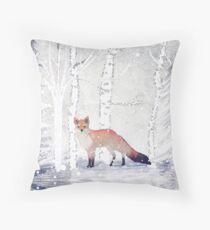 Cojín Fox del invierno por Monika Strigel