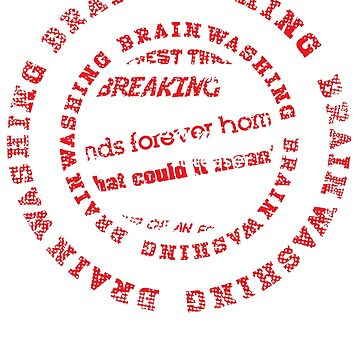 Brainwashing Creative Typographic Style  by jazzworldquest