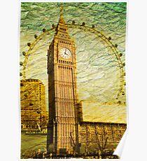 Grungy Big Ben: London UK Poster
