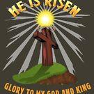 ER IST RISEN - Christliches Osterkreuz von Grundelboy